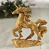 Factory Direct Craft® Decorative Marbled Wood Grain Resin Unicorn on Stand for Whimsical Displays, Collecting, and Gifting