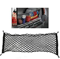 ZILONG Cargo Net Hammock Trunk Organizer Vehicle Storage with 4 Adjustable Hook Black