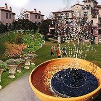 VEGKEY Bomba Solar para Estanque 6 Accesorios para pulverización de Agua, 2019, para estanques de jardín, Piscinas para pájaros, Fuentes de jardín, Negro: Amazon.es: Jardín