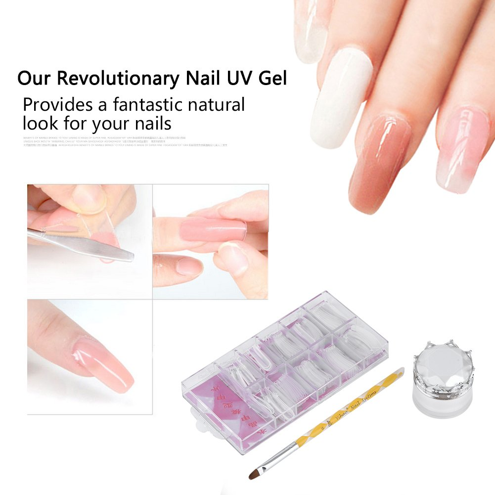15 ml Geles de manicura y pedicura Builder Gel rápida Poly UV Tips para uñas Molde Finger Extension con solución Slid Nail Brush: Amazon.es: Belleza