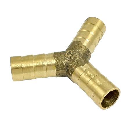 Bricolaje y herramientas Laton de 3 vías conector de lengüeta de la manguera y por 10 mm de tubería de agua de aire diámetro interno Ferretería Sourcingmap a13011400ux0203