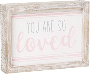 Distressed Wood-Framed Block Sign for Children's Decor (You Are So Loved)