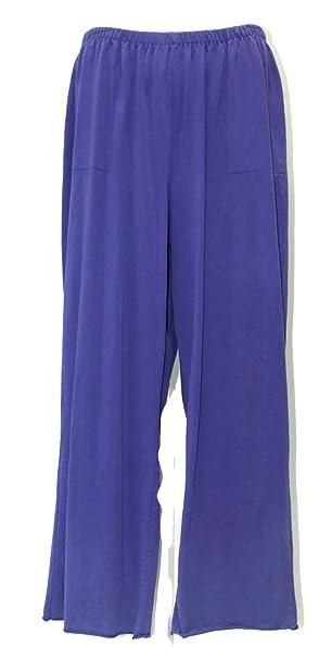 bdd9c4957b567 Fenini Women s Indigo Purple Cotton Jersey Pant Plus Size (2X ...
