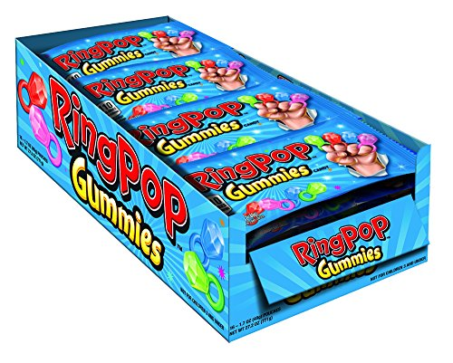 Ring Pop Gummies Rings Candy, 1.7 Oz (Pack of -