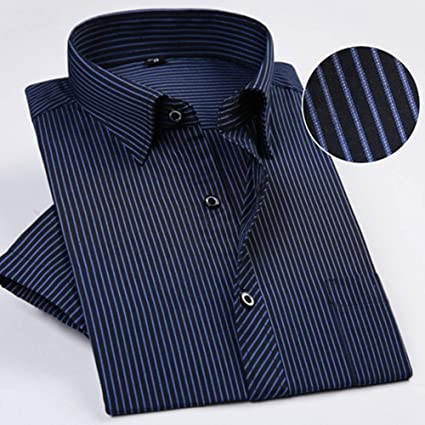 NSSY Camisa de Hombre Camisas de Vestir de Manga Corta a ...