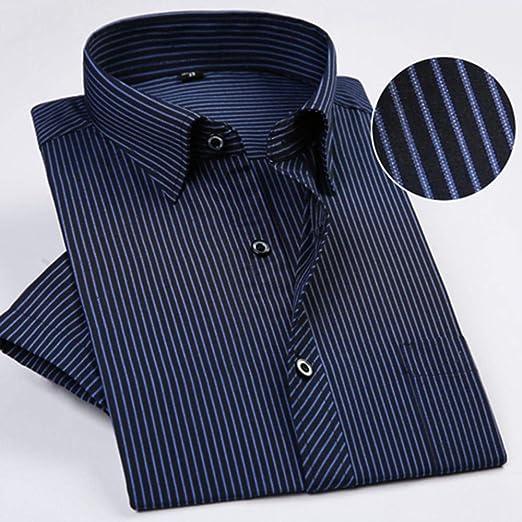 NSSY Camisa de Hombre Camisas de Vestir de Manga Corta con diseño de Verano para Hombres Camisas Populares de Mediana Edad con Corte Regular, sin Plancha, XXL: Amazon.es: Hogar