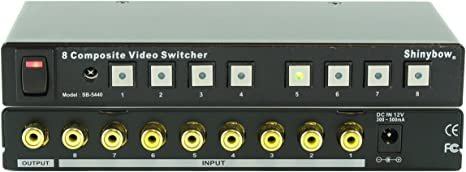 SB-5440RCA with IR Remote Control RCA 8x1 Composite Video Switcher