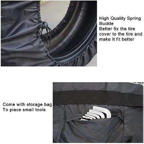 Reifenabdeckung Universal 4 ST/ÜCKE Rad Tasche Wasserdicht Sonnenschutz Reifen Abdeckung Tote Protector Mit Griff Elastisches Seil