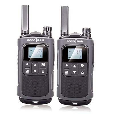 Walkie Talkies for Adults Long Range FRS Two-Way Radios Rechargeable 22CH VOX with Rechargeable Battery for Outdoor Hiking Camping Socotran T80 Black 2 Pack Two Way Radios Falshlight Walkie-Talkie: Car Electronics