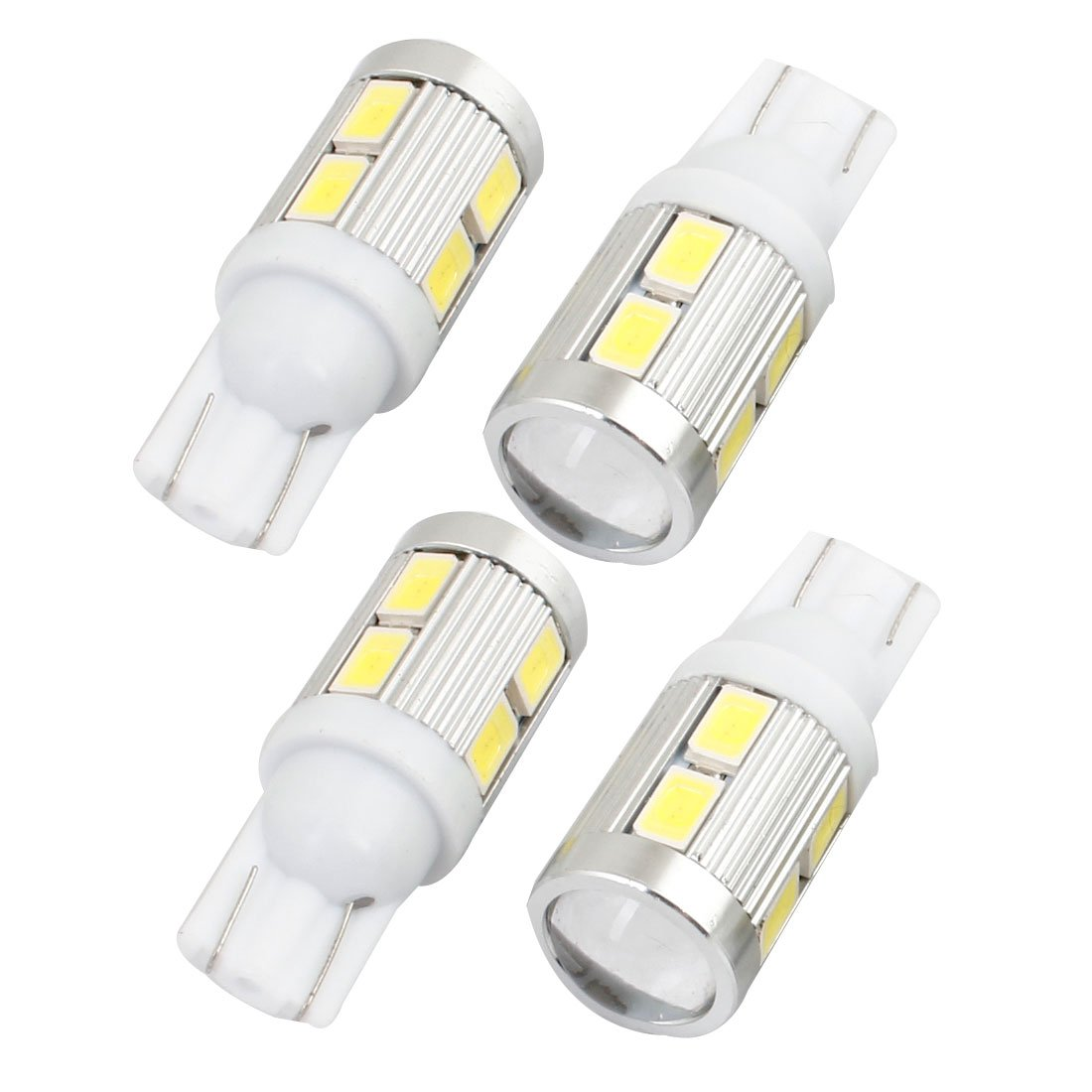 uxcell Van Car T10 10 White 5630 SMD LED Canbus Panel Wedge Lamp Light 4 Pcs internal a14031300ux1139