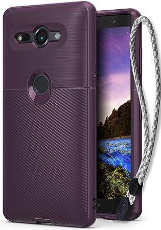 Ringke Funda Xperia XZ2 Compact, [Onyx] [Gran Resistencia] Protectora de TPU Duradera, Antideslizante y Flexible con Correa Muñeca para Sony Xperia XZ ...