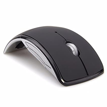 6657a01dc1d Amazon.com: XBOSS V1 2.4GHz Wireless Folding Foldable Arc Optical Mouse  with USB Receiver for PC Laptop MacBook: Computers & Accessories