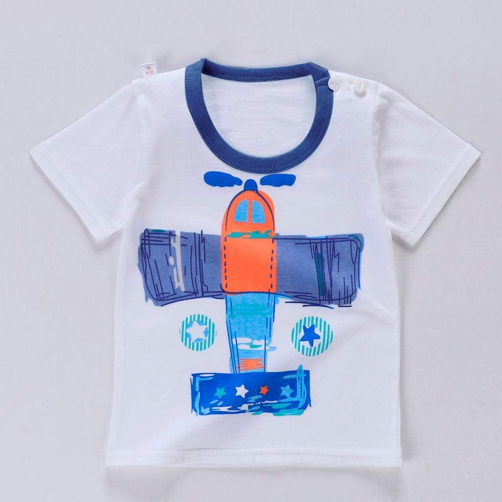 Allence Baby Jungen Set Sommer 2 St/ücke Junge M/ädchen Bekleidungsset Kleidung Cartoon Kleine gelbe Ente Print T-Shirt Tops Infant Outfits Kinder Shorts Hosen