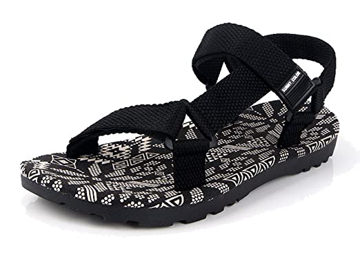 1e34491e7 Femaroly Open Toe Sandals Men Outdoor Beach Shoes Summer Students Sports  Slippers Black 6M