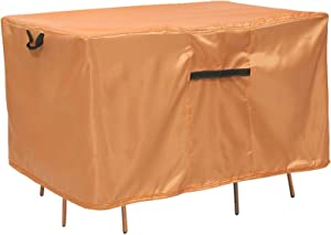 Patio Furniture Covers, 74x47inch Outdoor Furniture Covers/Oval Waterproof Outdoor Table Cover, Patio Table Cover, Rectangular Fire Pit Cover, Conversation Set Cover Waterproof for Outside Furniture