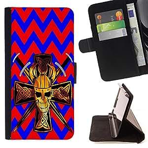 King Case - FOR Apple Iphone 5 / 5S - Never give up your dreams - Prima caja de la PU billetera de cuero con ranuras para tarjetas, efectivo Compartimiento desmontable y correa para la mu?eca