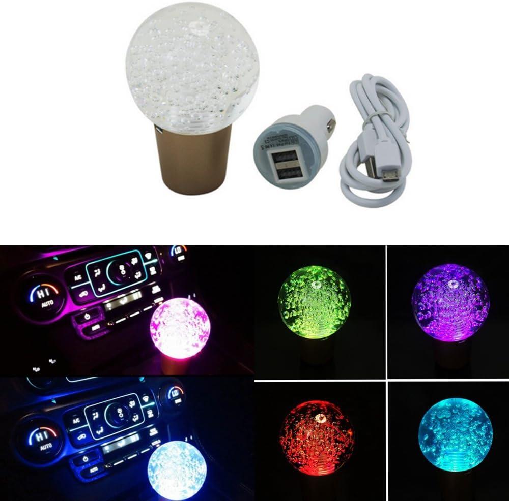 Cfcool New Manuelle Car Gear Shifter Schalthebel Knopf Touch Sensor Led Licht Shift Schaltknauf Kristall Ball Shift Noppen Bunt Auto