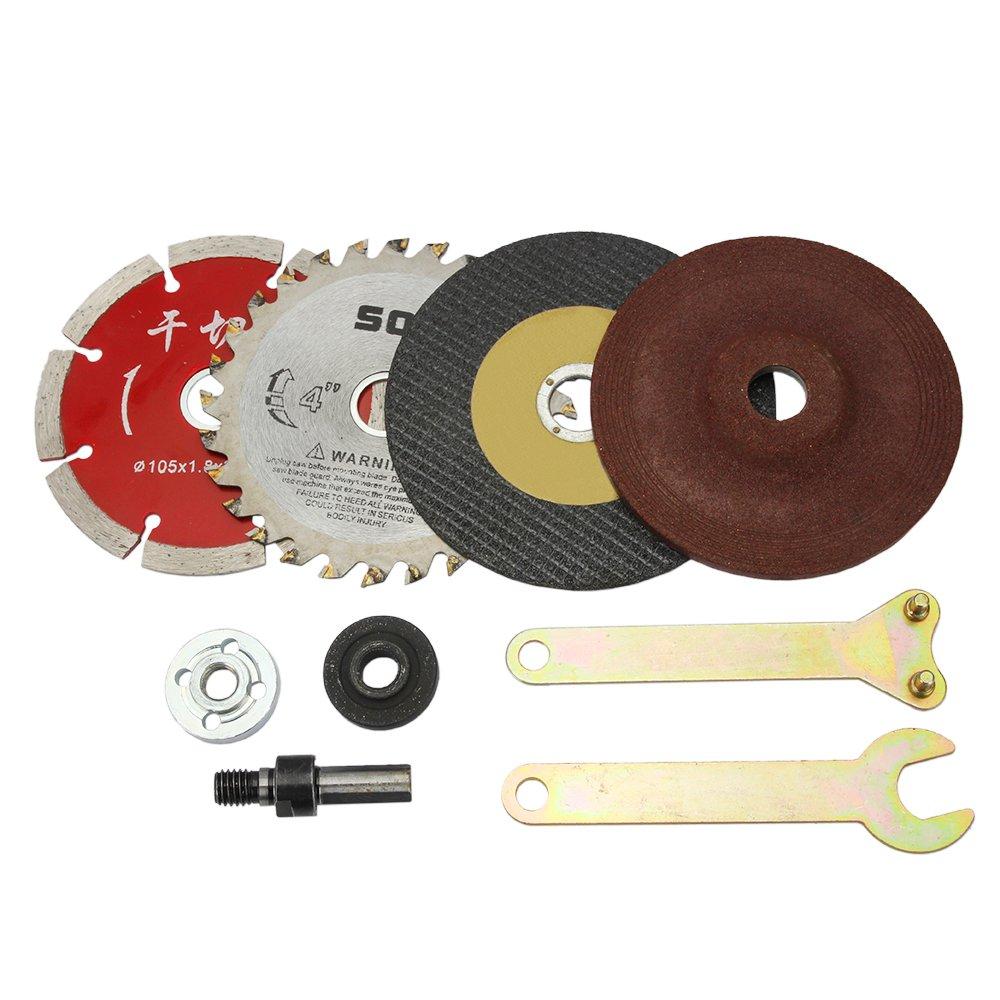 SENZEAL Trousse de coupe rotative d'outils de 9 morceaux de lames pour le marbre et la cé ramique en bois en mé tal SZ-448