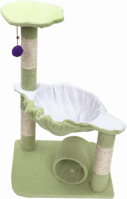 猫クライミングフレーム サイザルの猫と猫のアクティビティセンターは、猫の軸とスクリプト化された表面のトンネルで簡単に組み立てられ、猫を家具から遠ざけることができます マルチレベルの猫の木 (色 : C1)