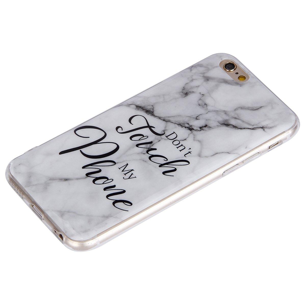 Coque iPhone 6S Plus,Coque iPhone 6 Plus,Surakey Marbre Motif Souple Silicone /Étui Protection Bumper Housse Clair Doux TPU Gel Ultra Mince Coque Etui Housse Case Cover pour iPhone 6//6S Plus 4