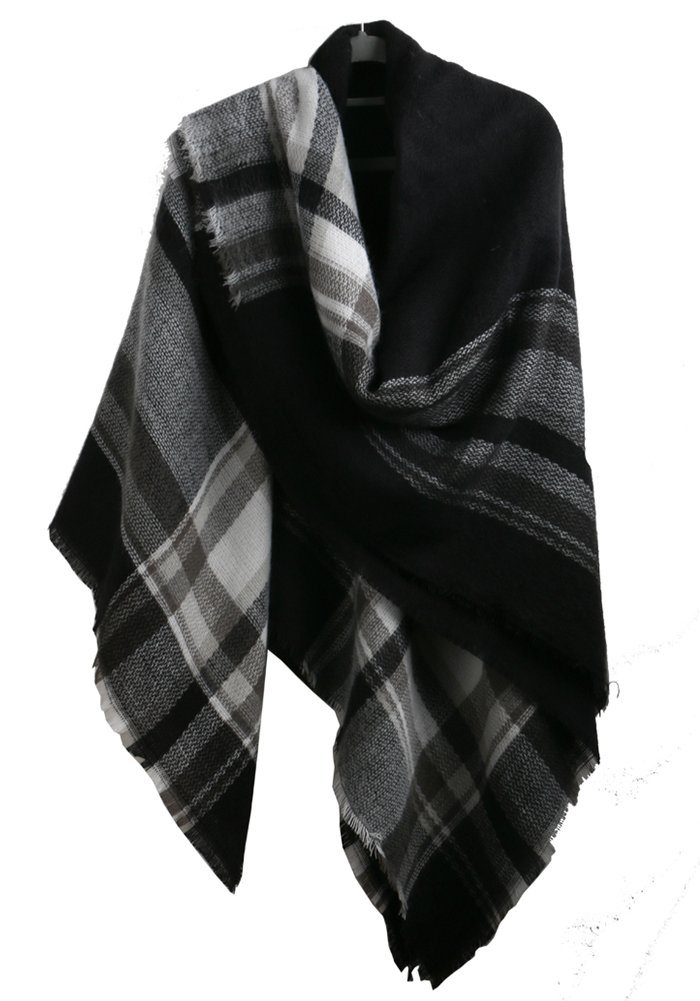MissShorthair Winter Plaid Blanket Scarfs for Women Large Square Tartan Shawl Wrap BCL2018WP-5
