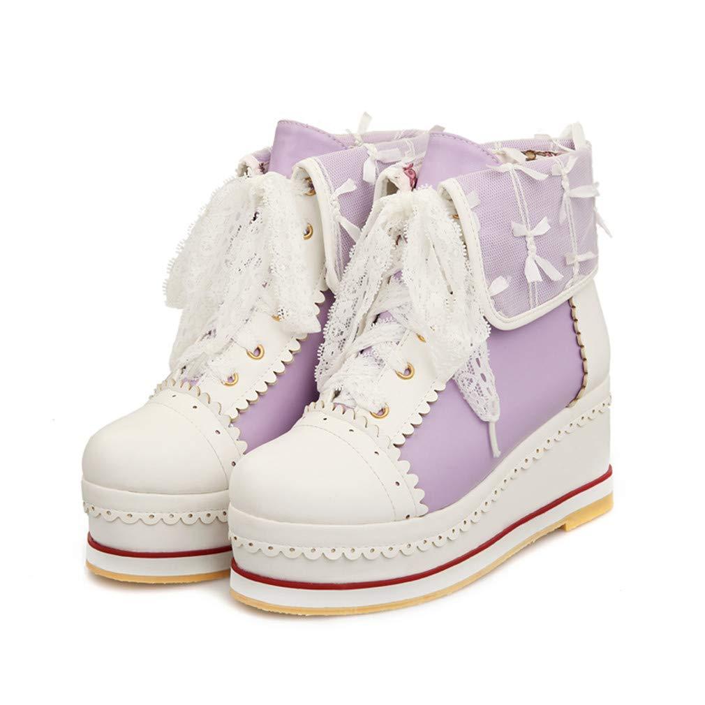 Black Friday HILIB Women s Cute Lolita Boots Cosplay ...