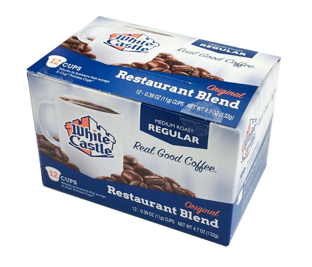 White Castle Restaurant Blend Coffee K-Cups Medium Roast Regular 12 Count (Pack of 3)