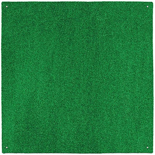 House, Home and More Outdoor Turf Rug - Green - 10 Feet X 10 Feet