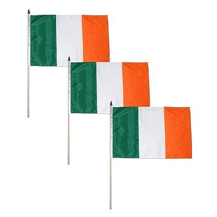 Amazon.com: Bandera de Irlanda 12 x 18 inch, 3 PK: Jardín y ...
