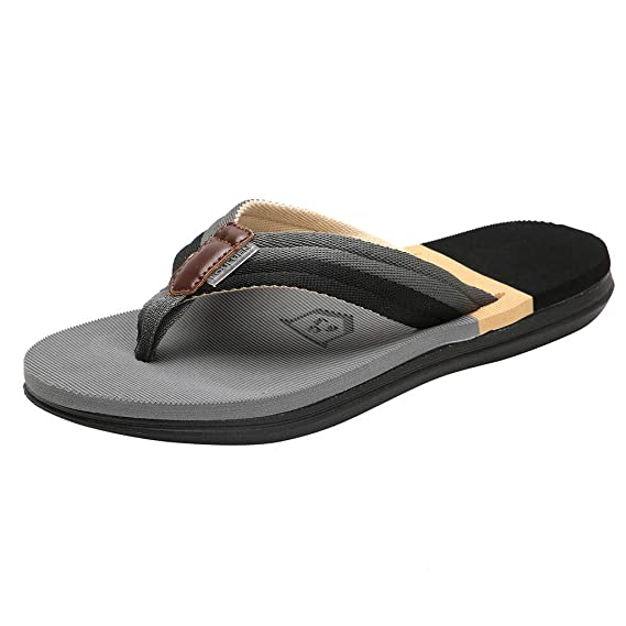b249c2feae09 The Long Shop Men s Classic Thong Sandals Beach Flip-Flop Athletic Non-Slip  Slippers