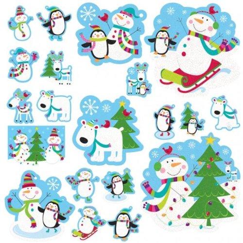 Amscan Joyful Snowman Mega Value Pack Cut-outs -