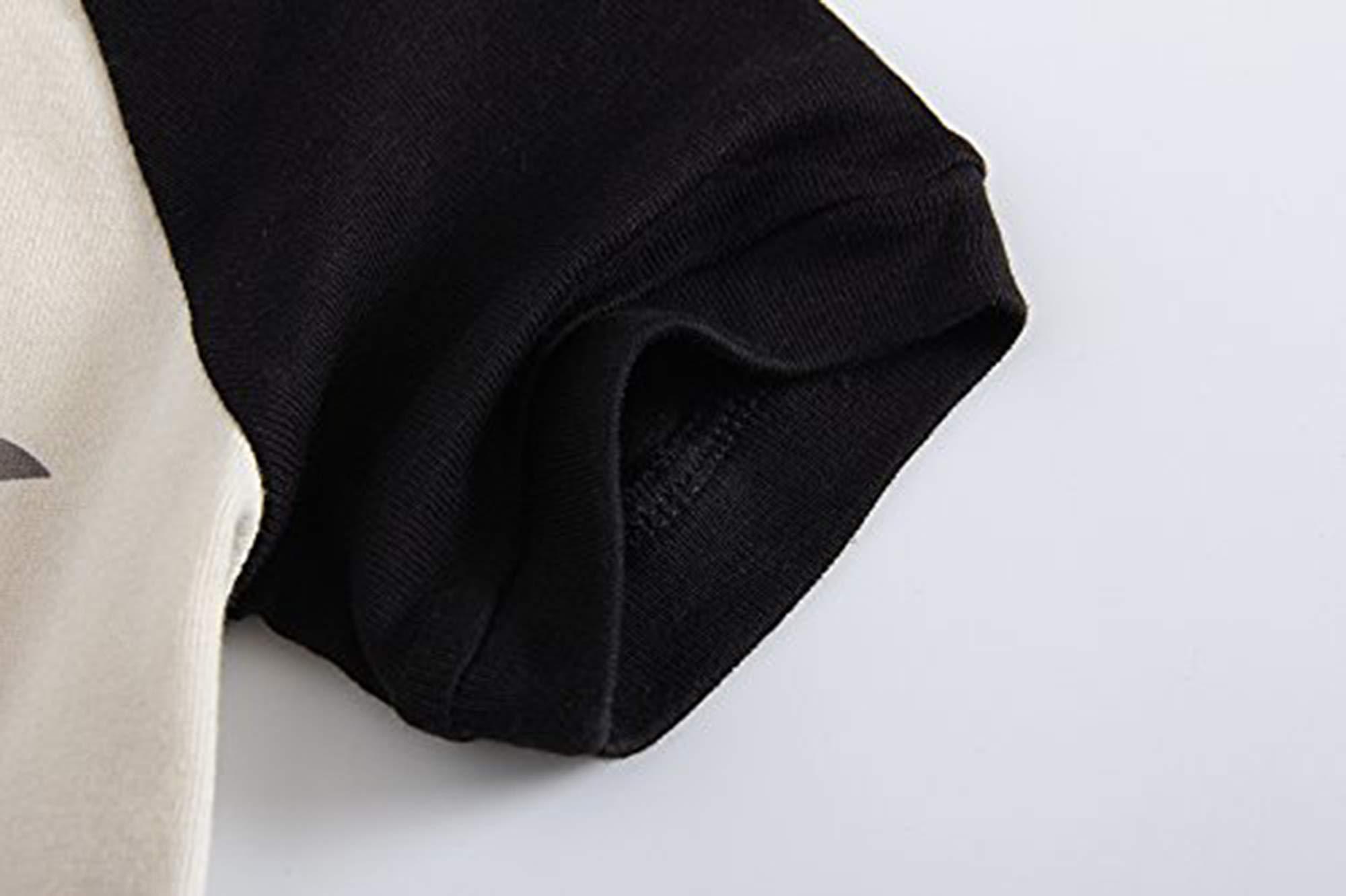 Family Feeling Shark Big Boys Shorts Set Pajamas 100% Cotton Sleepwear Kids Size 16 Black/White by Family Feeling (Image #4)