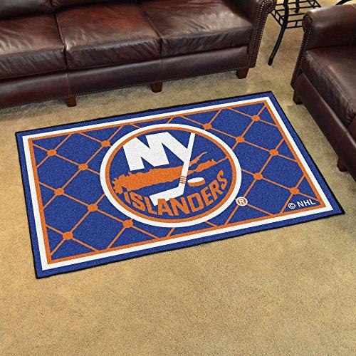 Gameroom Carpet Rug - FANMATS NHL New York Islanders Nylon Face 4X6 Plush Rug