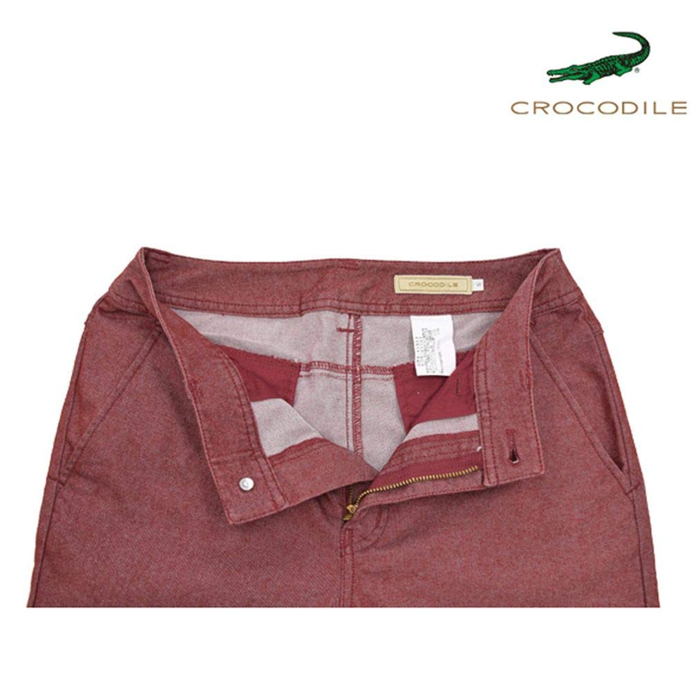 cebf27d80b86 Amazon | 【CROCODILE】クロコダイル パンツ レッド ロングパンツ (S) | ロングパンツ 通販