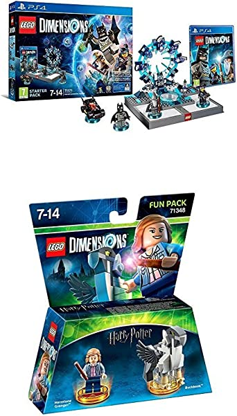 LEGO - Starter Pack Dimensions (PS4) + Harry Potter - Hermione (Fun Pack): Amazon.es: Videojuegos