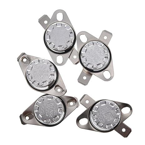 Interruptor de termostato - SODIAL(R) KSD301 250V 10A Interruptor de control de temperatura