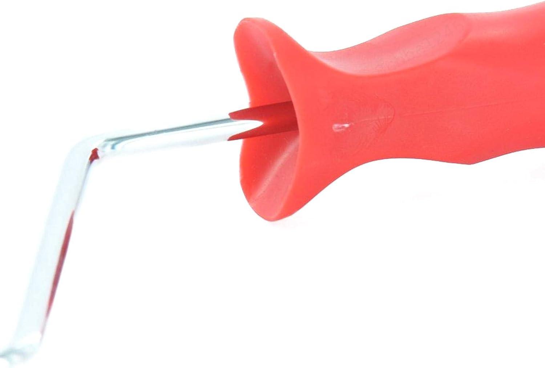 ZOZOSEP 7 Pouces Rouleau de Peinture Rouleau de Peinture Rouge Outil de d/écoration Murale Bricolage textur/é Design Bois-Grain