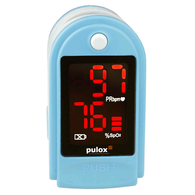 PULOX PO-100 Pulsiox/ímetro para medir la Saturaci/ón de Ox/ígeno y la Frecuencia del Pulso con Accesorios