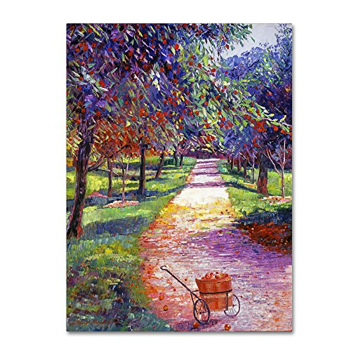 French Apple Orchards by David Lloyd Glover, 18x24-Inch Canvas Wall Art