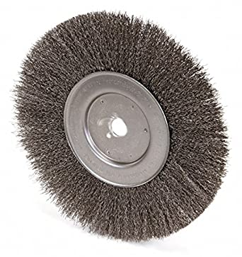 Weiler 10 Crimped Wire Wheel Brush Arbor Hole Mounting 0 014 Wire Dia 2 1 2 Bristle Trim Length 1 E Amazon Com Industrial Scientific
