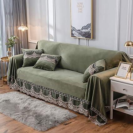 Amazon.com: JYPHM Funda de sofá de felpa vintage de ante de ...
