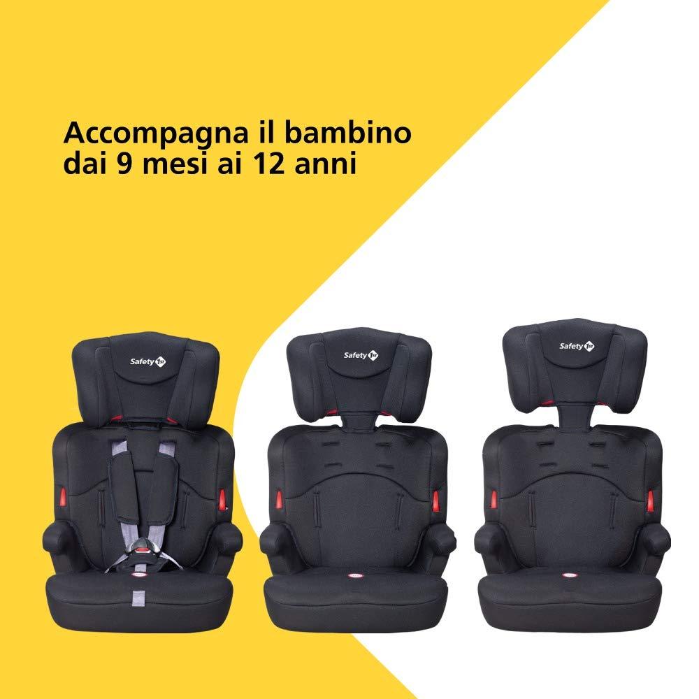 91abcaefc8 Safety 1st Ever Safe Seggiolino Auto 9-36 Kg, Gruppo 1 2 3 per Bambini dai  9 Mesi fino ai 12 Anni, Facile da Installare, Colore Blu (Plain Blue):  Amazon.it: ...