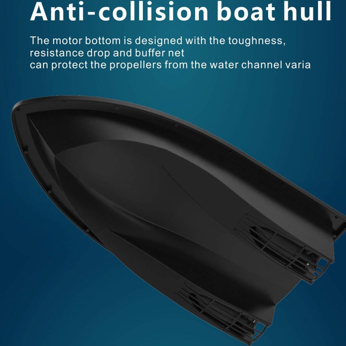 Greatangle D11 Smart RC Bait Boat Giocattoli Doppio Motore Fish Finder Nave Telecomando 500m Barche da Pesca Motoscafo Strumento di Pesca Spina USA Nero