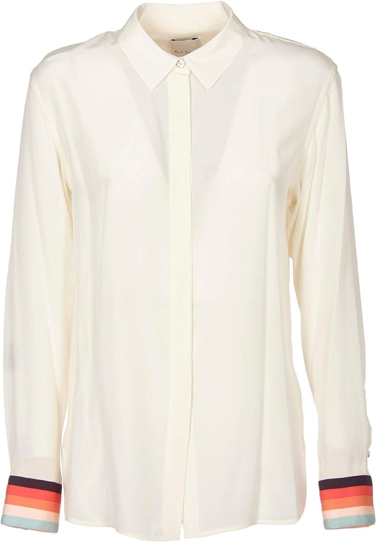 Paul Smith Luxury Fashion Mujer W1R004BA1036804 Blanco Camisa   Otoño-Invierno 19: Amazon.es: Ropa y accesorios