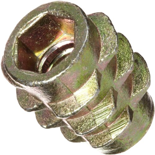E-Z Lok Threaded Insert, Zinc, Hex-Flush, #10-24 Internal Threads, 0.512'' Length (Pack of 50) by E-Z LOK