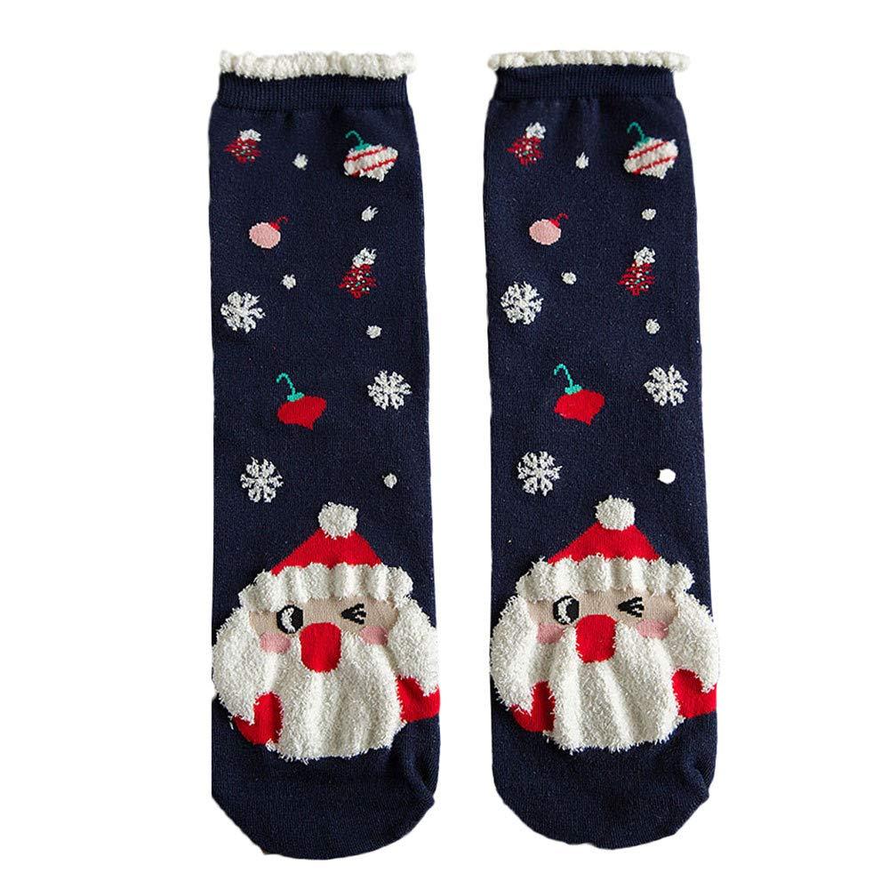 On Sale! WEUIE Christmas Women Cotton Socks Multi-Color Women's Winter Socks A(Free Size, B)