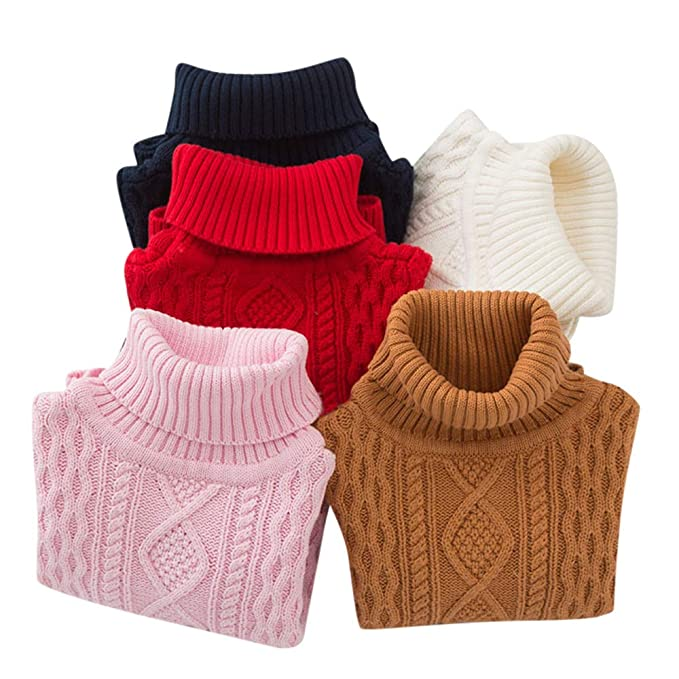 28e3a84a5 Amazon.com  Moonper Children Knitted Sweater Baby Girls Boys Winter ...