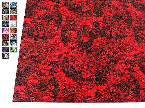 HolsterSmith: Infused KYDEX Thermoform Sheet - Officially Licensed Kryptek Xtreme EMT Red Micro Camo Pattern (.080 Gauge) - Cell/Smooth Finish (Kydex Sheets)