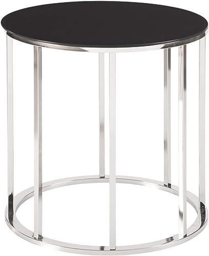 Signature Design by Ashley – Clenco End Table, Black Chrome Finish