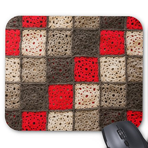UOOPOO Crocheted Patchwork Mouse Pad Rectangle Non-Slip Rubber Mousepad Gaming Mouse Pads 8.2 x 10.2 x 0.12 Inch(Pattern: (Patchwork Crocheted)